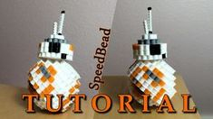 BB-8 3D PERLER BEAD TUTORIAL! - YouTube