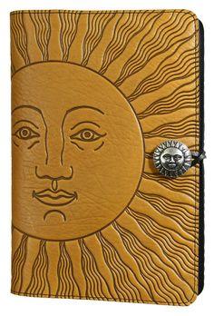 Large Leather Notebook Cover| Sun | Oberon Design