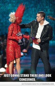 Eminem is concerned for Lady Gaga