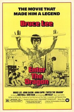 Art Prints - Film prints - Bruce Lee film prints: Bruce Lee Enter The Dragon art print inspired by cinema poster art from the cult matial arts film. Enter The Dragon was released in 1973 and starred Bruce Lee as Lee, a Shaolin martial artist. Lee Movie, Film Movie, Movie Props, Vintage Movies, Vintage Posters, Bruce Lee Art, Dragon Movies, Martial Arts Movies, Martial Artists