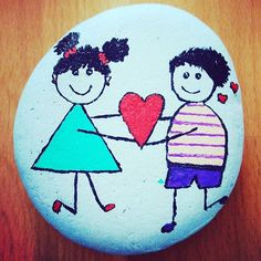 #paintedstones #painting #stones #drawing #heart #girl #givesyouwings