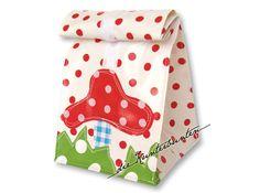 Lunchbag / Lunchbox / Lunch Bag /Brotbeutel NEU! Lunchbag mit schicken Applikationen, handgefertigt nach eigenen Entwürfen!!! Lunchbag aus o...
