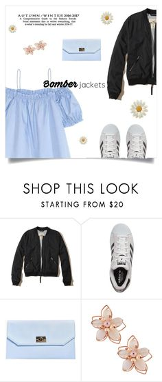 """""""Bomber Jackets"""" by laras03 ❤ liked on Polyvore featuring Hollister Co., adidas, Boohoo and NAKAMOL"""