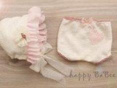 Newborn Outfit Höschen Haube Prop Photography...