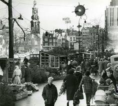 1965. Flower market at Singelgracht in Amsterdam. The flower market at…