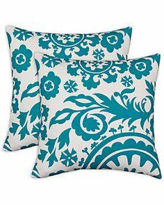 'Gardenia' Set of 2 Decorative Pillows Chooty pillows at Ruelala