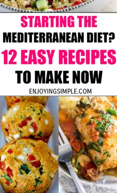 EASY MEDITERRANEAN DIET FRIENDLY RECIPES The Mediterranean diet has been around for a while, but it's been drowned out by Keto, at least I think so.Therefore, we're going to showcase it on here today! Talking about food excites me. New ways of eat Med Diet, Low Carb Diet, Easy Mediterranean Diet Recipes, Mediterranean Sea, Mediterranean Diet Breakfast, Mediterranean Diet Shopping List, Diet Meal Plans, Paleo Diet Plan, Easy Diet Plan