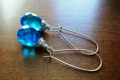 Your place to buy and sell all things handmade Shop Sale, Wire Wrapping, Turquoise Bracelet, Drop Earrings, Trending Outfits, Unique Jewelry, Bracelets, Handmade Gifts, Blue