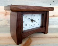 Check out our wood clock selection for the very best in unique or custom, handmade pieces from our clocks shops. Craftsman Clocks, Modern Craftsman, Craftsman Style Homes, Mantel Clocks, Wood Clocks, Clock Shop, Art And Craft Design, Desk Clock, Beautiful Bedrooms