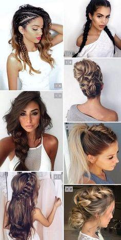 22 BRAIDED HAIRSTYLES Fotos de Penteados com Tranças muito pinados no Pinterest. Best braided hairstyles summer 2017 on Pinterest @ohlollas