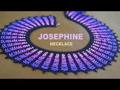 16: TUTORIAL for JOSEPHINE necklace! THUMBS UP!!! - YouTube