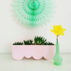 DIY Ikea Aggplanta spraypainted pink via @my_colored_life on Instagram