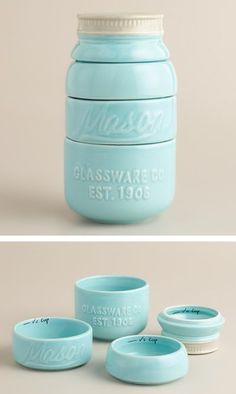 Mason Jar Measuring Cups. - too adorable for words! bought these for myself for my birthday