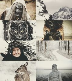 """cuddlycenobite:Of Myth and Legend→ The Cailleach  """"Cailleach"""" derives from the old Irish caillech, or """"the veiled one."""" The modern word cailleach means """"old woman"""" or """"hag"""" in Gaelic. The Cailleach is a widespread form of Celtic hag Goddess tied to the land and the weather Who has many variants in the British Isles. The Caillagh ny Groamagh (""""Gloomy Old Woman"""", also called the Caillagh ny Gueshag, """"Old Woman of the Spells&r..."""