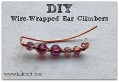 These #DIY #earclimbers are so cute and easy to make! Visit our blog to see how to make your own using #BeadGallery beads and @beadalon Artistic Wire available at @Michaels