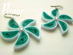 Handmade earrings, cute earring, handmade jewelry, fashion jewelry, artisan jewelry, quilled earrings