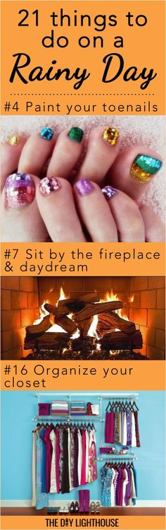 21 things to do on a rainy day | ideas for fun, relaxing, and cozy things to do at home | girls night in idea | cute and fun inspiration for staying home for a night in
