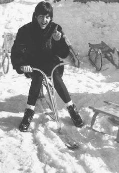 Paul McCartney (having a ride)