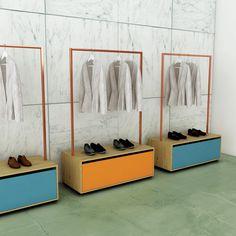 Portant rainbow avec tiroir, la solution idéale pour stocker, exposer