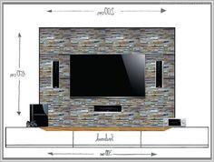 Resultado de imagen para tv wand ideeën design