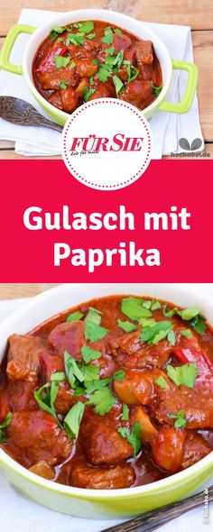 Goulash with boiled potatoes - Weihnachtsessen Goulash, Stew, Casserole, Buffet, Food And Drink, Potatoes, Meat, Recipes, Fondue
