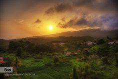 just a sunset ... - Pinned by Mak Khalaf Landscapes MartiniqueMorne Rougecloudscoloursgrassgreenlandscapelightskysunsunsettrees by grzegomi