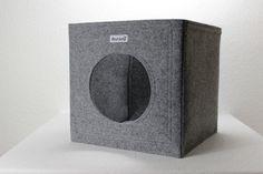 Katzenhöhle Katzenkorb Katzenbett als Regalkorb aus Filz passend für Ikea Expedit und Kallax