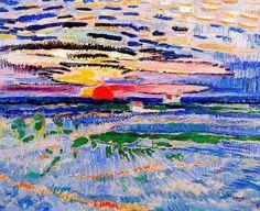 Sunrise, 1910 by Jan Sluijters on Curiator, the world's biggest collaborative art collection. George Grosz, Monet, Francis Picabia, Pierre Auguste Renoir, Dutch Painters, Collaborative Art, Dutch Artists, Klimt, Henri Matisse