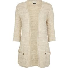 River Island Cream Slouch Pocket Cardigan and other apparel, accessories and trends. Browse and shop 21 related looks.