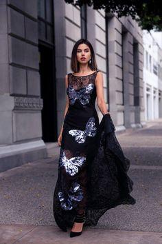 @roressclothes closet ideas #women fashion outfit #clothing style apparel Gorgeous Black Evening Dress