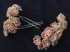 Japanese Kanzashi Set Ornamental Hairpin Set of 3   eBay