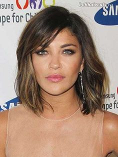 20 Asymmetrical Bob with Bangs - 2 #BobHaircuts