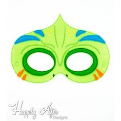 Chameleon ITH Mask Embroidery Design