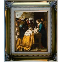 Historic Art Gallery 'Adoration of the Magi 1655' by Bartolome Esteban Murillo Framed Painting Print
