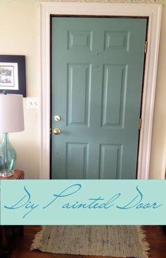 DIY Painted Door : Mermaid Net by Behr paint color