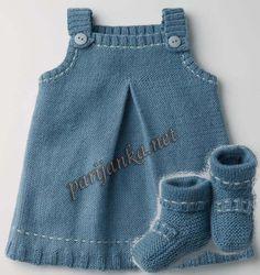 Set sundress ve ayakkabı 11 ve 12 * 44 (Fildar) Baby Knitting Patterns, Baby Patterns, Crochet Baby, Knit Crochet, Knit Baby Dress, Doll Dress Patterns, Baby Wearing, Kids Wear, Pretty Outfits