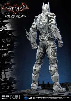 Prime 1 Studio Batman: Arkham Knight - Batman Beyond White Version Statue - The Toyark - News Batman Armor, Batman Suit, Batman Arkham Knight, Im Batman, Dc Comics Action Figures, Batman Figures, Batwoman, Nightwing, Batman Redesign
