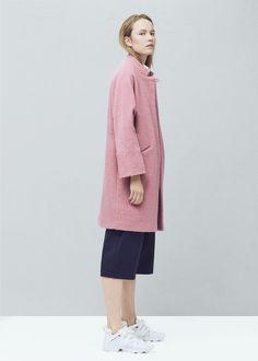 Cappotto lana oversize - Cappotti da Donna | MANGO Italia