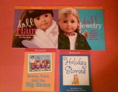 AMERICAN GIRL DOLL ACTIVITY BOOK SET 4 HAIR JEWELRY HOLIDAY STORY VENUS TARA GAM #ACTIVITYBOOKS