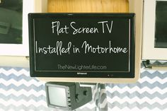 How to Install a Flat Screen TV in a Motorhome - Replacing the Box