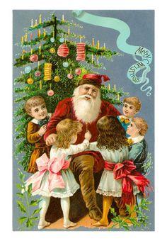 Victorian-santa-with-children