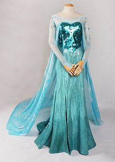 Movies Frozen Snow Queen Elsa Cosplay Costume Deluxe Dress kids teenager and adult & 20+ Awesome DIY Elsa Costume Tutorials for Little Girls | Pinterest ...