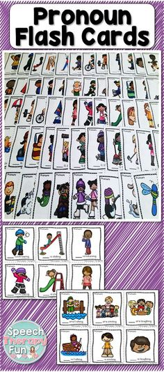 Address he, she, it and they.   Specifically Includes: 27 Sets of He/She Cards, 12 Sets of They/He/She Cards, 9 Sets of They/It Cards!  Total 96 Cards!