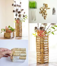 If you are looking at some out of the box and clever Wine Cork Crafts and Projects, then this is the one for you. Diy And Crafts Sewing, Crafts To Sell, Diy Crafts, Craft Tutorials, Craft Projects, Wine Cork Crafts, Creation Deco, Project Free, Craft Wedding