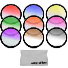 52MM Complete Graduated Color Lens Filter Set for NIKON D3200 D3100 D3000 D5200 D5100 D5000 D7100 D7000 DSLR Cameras with a 18-55MM Zoom Lens - Includes: Red, Orange, Blue, Yellow, Green, Brown, Purple, Pink and Gray ND Filters + MagicFiber Microfiber Lens Cleaning Cloth Goja,http://www.amazon.com/dp/B005MSNF0W/ref=cm_sw_r_pi_dp_QUsHsb0V4AGWREVH