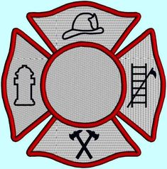 Maltese Cross Fireman Badge Fireman Symbol by DesignByTheStitches, $4.99