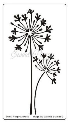 Sweet Poppy Stencil Agapanthus