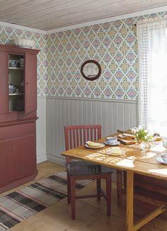 Gästgivars from Duro Swedish Wallpaper, Of Wallpaper, Scandinavian Furniture, Scandinavian Design, My Dream Home, Home Kitchens, Home Furniture, Sweet Home, Interior Design