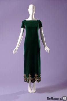 Evening dress People and Brands: Brand: Christian Dior Medium: Green silk velvet Date: Fall 1963
