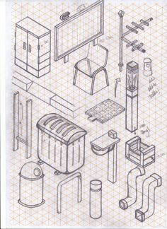 how to draw almost anything in isometric projection - Miquel Tura Rigamonti from Barcelona via Béhance